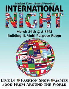 Flier for International Night!