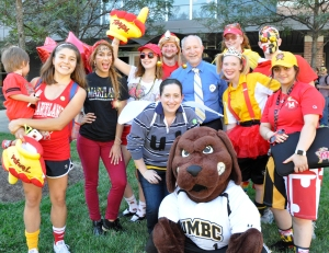 Does USG have spirit? Our campus has 9X the school spirit since we house programs from nine different Maryland Institutions.