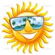 Cheerful sun in sunglasses