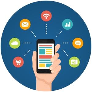Smartphone apps infographics