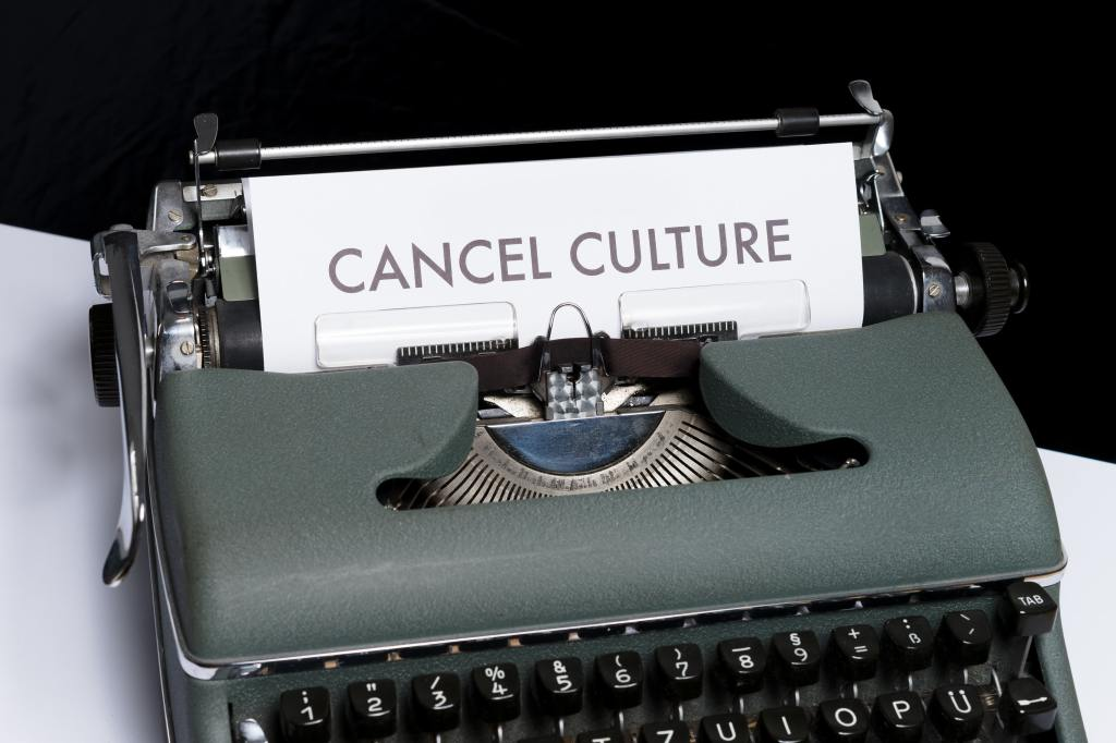 """Cancel culture"" written by a gray typewriter"